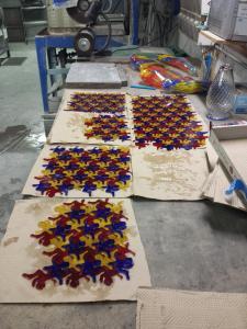 Water Jet Cut Glass Tessellations