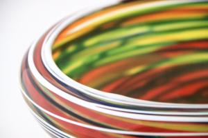 Multicolor glass bowl