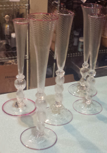 Ruby Lipped Goblets