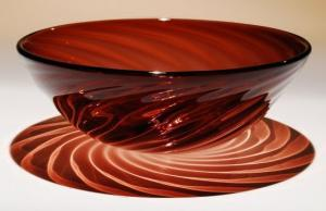 Twisted Cranberry Bowl